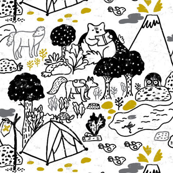 repeat pattern, estampado continuo, textil, ilustración, illustration, Eliane Mancera