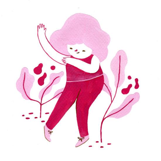 ilustración, illustration, happy dance, pintura, gouache painting