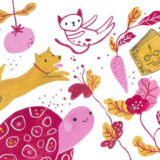 ilustracion, editorial, ajudaris, illustration, gouache, painting, ilustradora mexicana