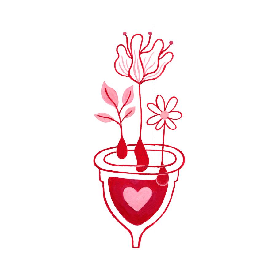 menstruación, menstruation, stickers, illustration, women, moon cycles,