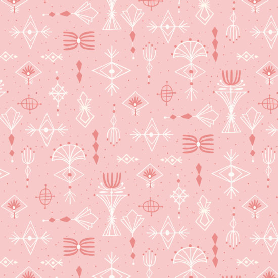 pattern, textile, geometric, pink, repeat pattern, surface design, illustration, gouache, painting