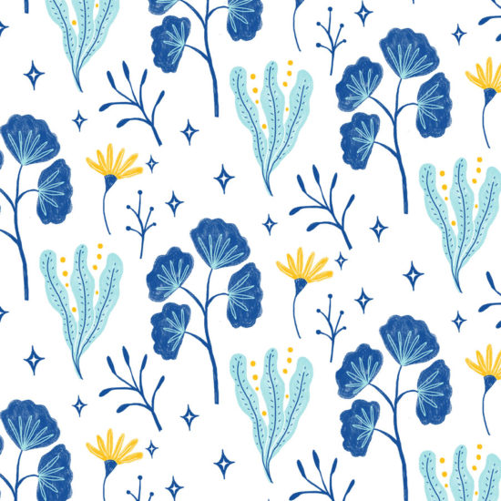 pattern, textile, design, surface design, repeat pattern, floral, digital, painting, plants, flowers